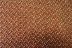 Rusty Diamond Plate Texture Fotografering för Bildbyråer