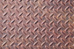 Rusty Diamond Tread Metal Background Fotos de Stock