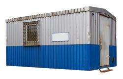 Rusty dirty blue metal trailer Stock Photos