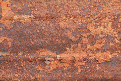 Rusty dirty iron metal plate background. Old rusty metal. Red ru Stock Photo