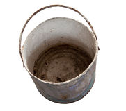 Rusty and Dirty metal blank of bucket with clipping path Royalty Free Stock Images