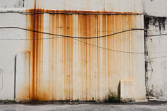 Rusty dirty moldy wall outdoor. In Penang, Malaysia Royalty Free Stock Photos