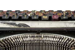 Rusty dirty typewriter. Old and rusty dirty typewriter. viewed from the top Royalty Free Stock Photo