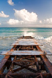 Rusty Dock. Near Samana, Dominican Republic Royalty Free Stock Images