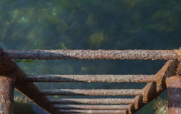 Rusty Dock Ladder Immagini Stock