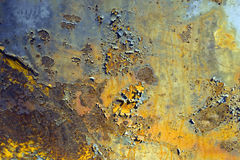 Rusty Door. The side of an old rusty car in a junk yard Royalty Free Stock Images