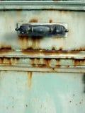 Rusty door. Detail of a metal rusty door stock image