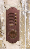 Rusty door bell Royalty Free Stock Image