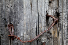 Rusty Door Handle anziano Fotografie Stock Libere da Diritti