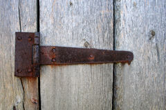 Rusty door hinge Stock Image