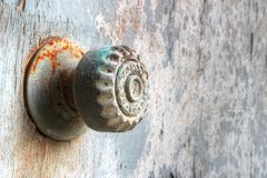 Rusty door knob Stock Photography