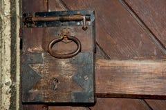 Rusty door lock royalty free stock photography