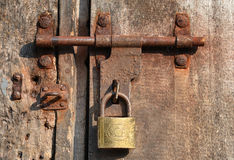 Rusty Door Lock Royalty Free Stock Photos