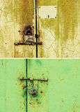Rusty door and lock Royalty Free Stock Photos