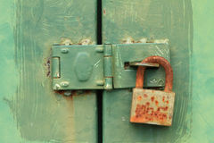 Rusty door lock Royalty Free Stock Photo