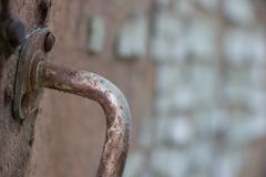 Old door handle. royalty free stock photography