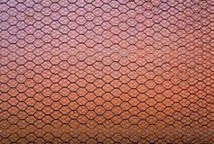 Rusty Double Layer Hexagonal Wire Mesh Background arkivbilder