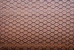 Rusty Double Layer Hexagonal Wire Mesh Background royaltyfria foton
