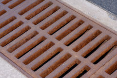 Rusty Drain Grate Royalty Free Stock Images