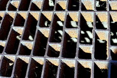 Rusty Drain Grate Stock Images