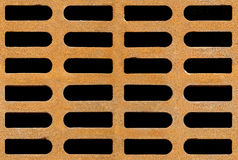 Rusty drain grate seamless background texture Stock Photos