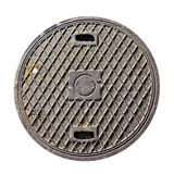 Rusty drain lid Royalty Free Stock Photo