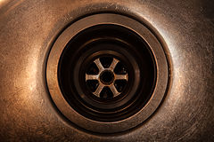 Rusty drain in the sink Royalty Free Stock Photos