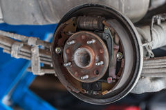 Rusty Drum Brake, Close up Stock Photos