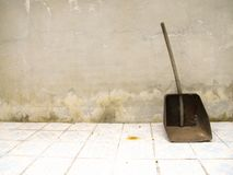 Rusty dustpan stock photography