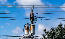 Rusty Electric power equipment ready to retire. Serving from 20th century, needs replacement Royalty Free Stock Image