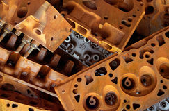 Rusty Engine Blocks Photos libres de droits