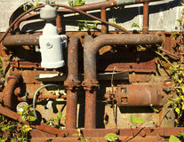 Rusty Engine With Vines Stock Photography