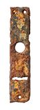 Rusty escutcheon plate Royalty Free Stock Photography