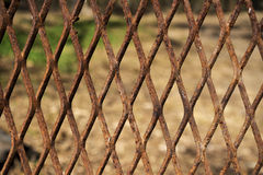 Rusty expanded metal Stock Image