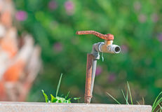 Rusty faucet Stock Photos