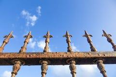 Rusty fence Stock Image