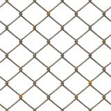 Rusty fence texture (rendered). Old rusty chain link fence Stock Image