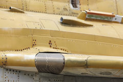 Rusty fighter plane fuselage detail Stock Photos