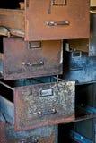 Rusty Filing Cabinets Lizenzfreies Stockbild