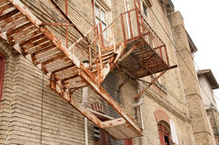 Rusty Fire Escape. In San Antonio, Texas Royalty Free Stock Images