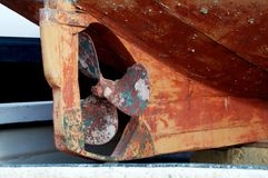 Fisherboat propeller Royalty Free Stock Image