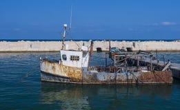Rusty fishing boat Stock Photo