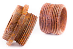 Rusty fittings Royalty Free Stock Photography