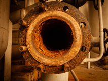 Rusty flange Stock Images