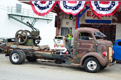 Rusty 1947 Ford COE flatbed Truck Stock Photo