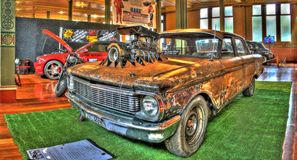 Rusty Ford rat rod Royalty Free Stock Images
