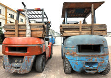 rusty forklift Stock Photos