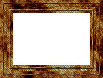 Rusty frame. Rusty metal style picture frame isolated Stock Image