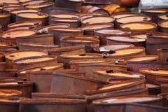 Free Rusty Fuel Drums On Arctic Coast Stock Photo - 24800730