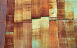Rusty galvanized iron plate. Stock Photo
